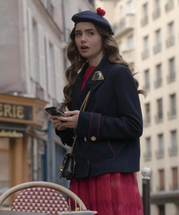 Emily in Paris Emily Cooper Blue Coat