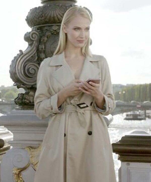 Emily in Paris Camille Razat Cream Coat