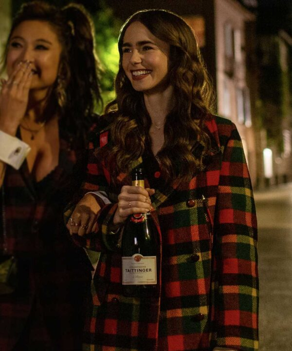 Emily In Paris Lily Collins Plaid Coat
