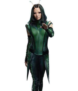 Mantis Green Leather Vest