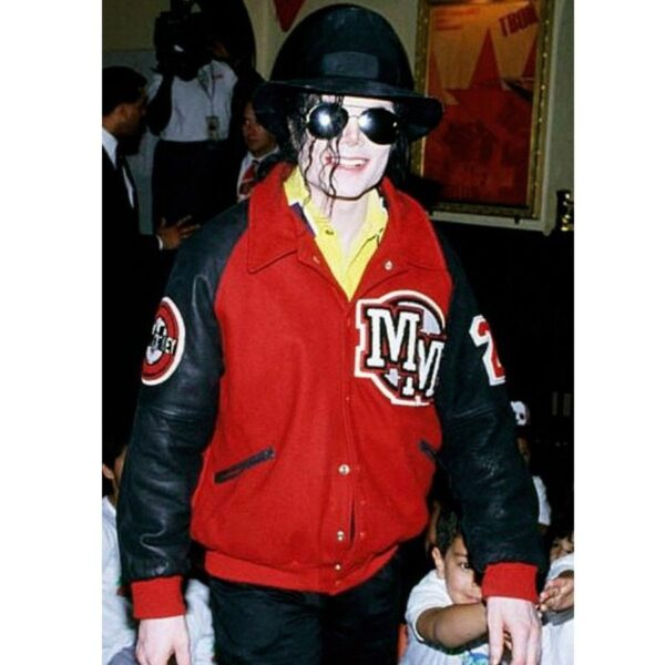 Michael Jackson Mickey Mouse Letterman Jacket