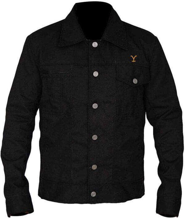 Rip Wheeler Yellowstone Black Jacket leather Jacket Black - Black Cotton Jacket Main