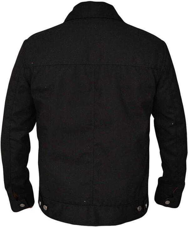 Rip Wheeler Yellowstone Black Jacketleather Jacket Black - Black Cotton Jacket Back