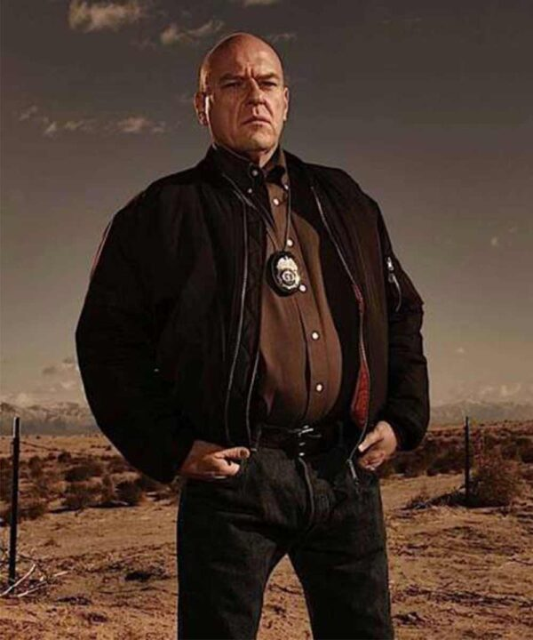 Breaking Bad Hank Schrader Black Bomber Jacket