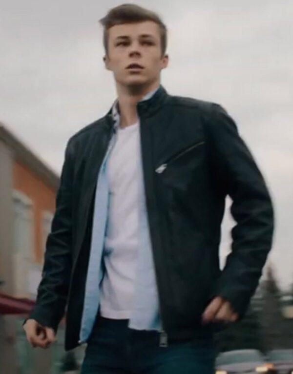 Nicholas Hamilton Black Leather Jacket