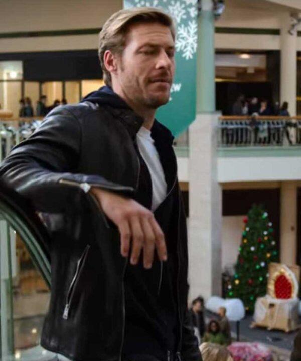 Holidate Luke Bracey Leather Black Jacket