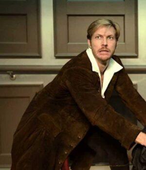 Luke Bracey Brown Coat