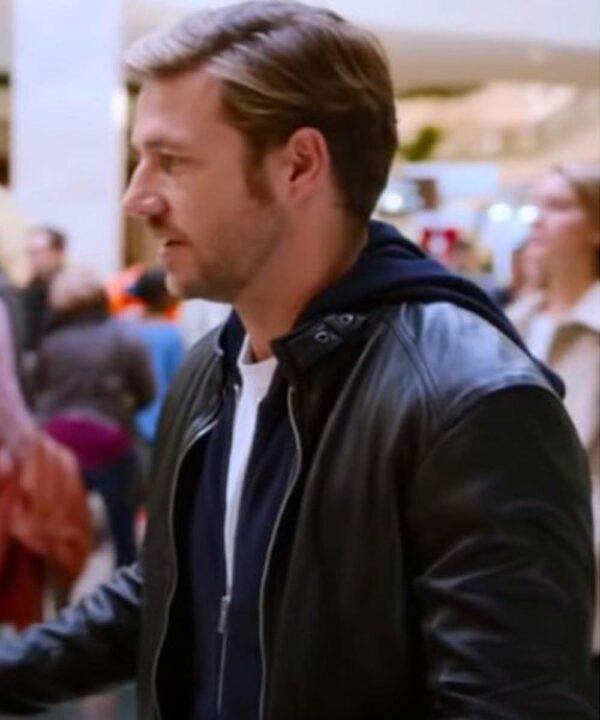 Holidate Luke Bracey Black Leather Jacket