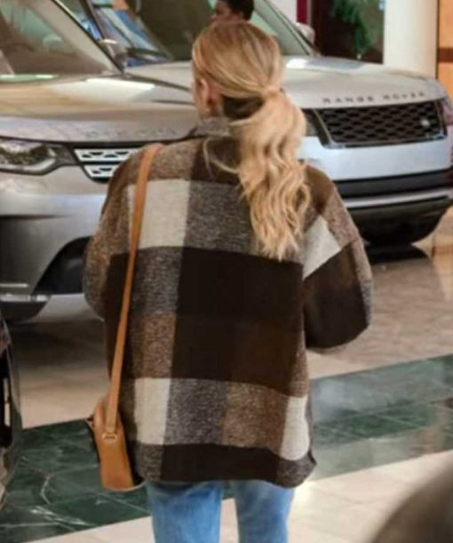 Emma Roberts Brown Plaid Jacket