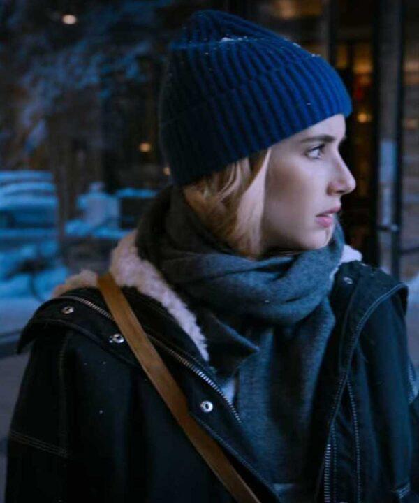 Emma Roberts Shearling Black Jacket