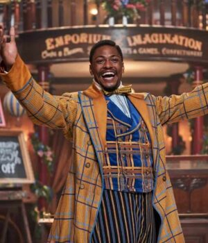 Young Jeronicus Jingle Jangle: A Christmas Journey Checkered Trench Coat