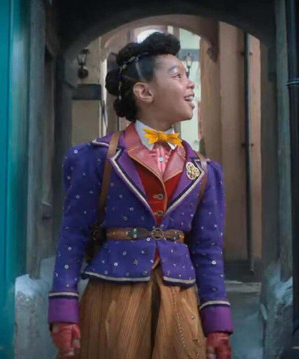 Jingle Jangle a Christmas Journey Madalen Mills Purple Blazer Jacket