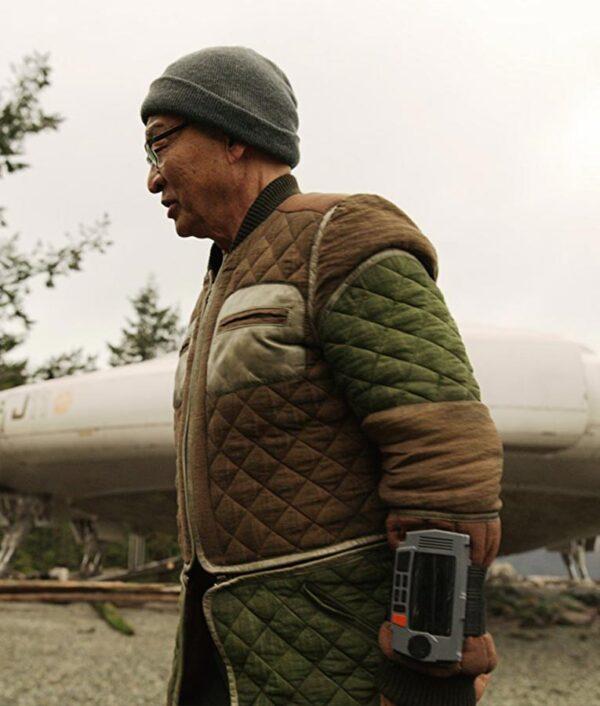 Cary-Hiroyuki Tagawa Brown And Green Coat