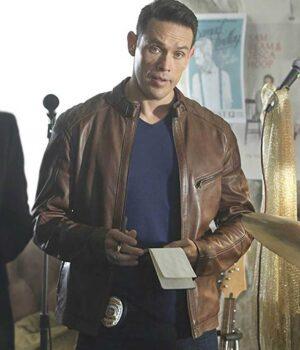 Lucifer Kevin Alejandro Brown Leather Jacket