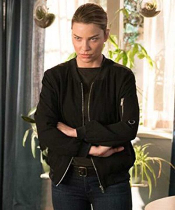 Lauren German Lucifer S03 Black Bomber Jacket