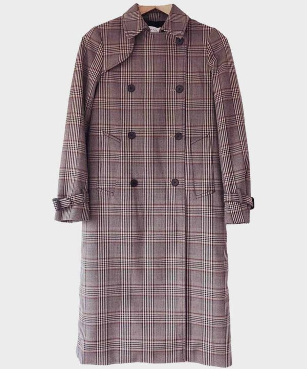 Lucifer Lauren German Trench Checkered Coat