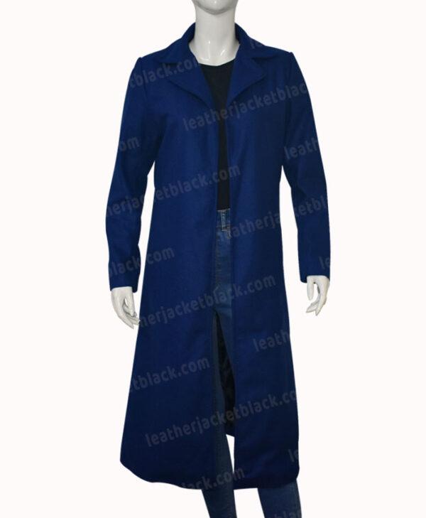 Nicole Kidman The Undoing Blue Trench Coat Front
