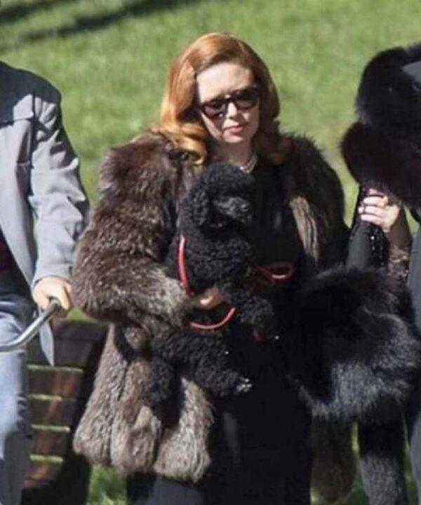 Natasha Lyonne Black Fur Jacket