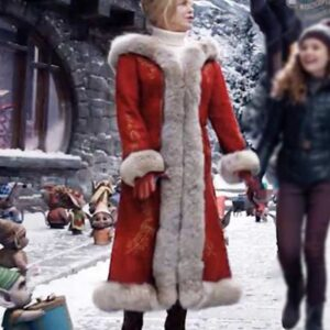 The Christmas Chronicles 2 Goldie Hawn Red Fur Hooded Coat