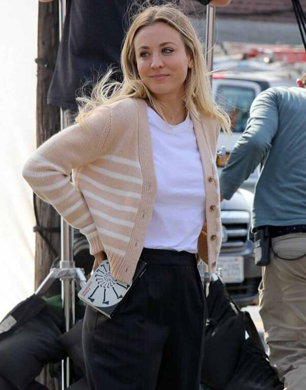 The Flight Attendant Kaley Cuoco Brown Sweater