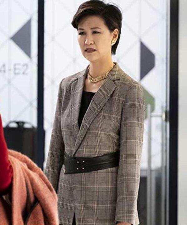Cindy Cheung Grey Check Coat