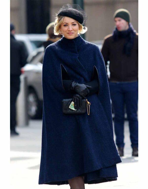 Cassie Bowden Blue Cape Coat