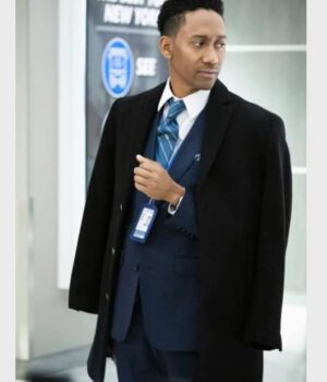 Griffin Matthews Black Trench Coat