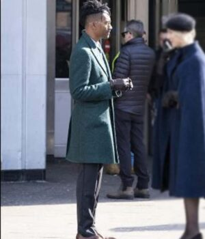 Griffin Matthews Green Trench Coat