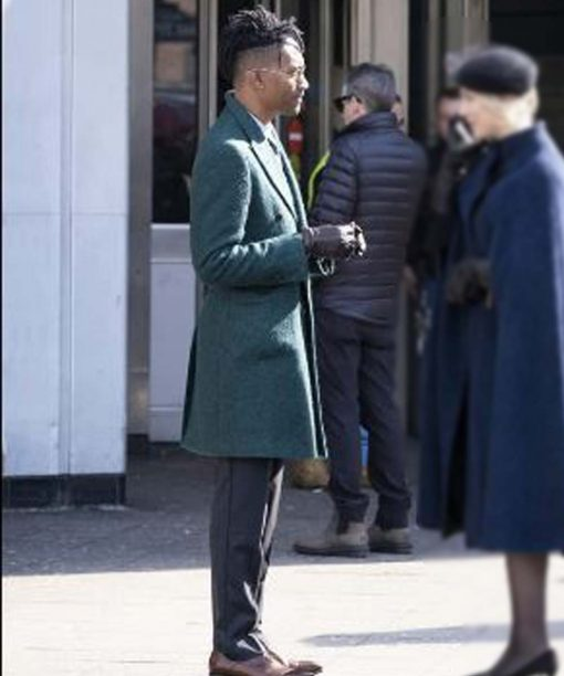 Griffin Matthews Green Trench Coat