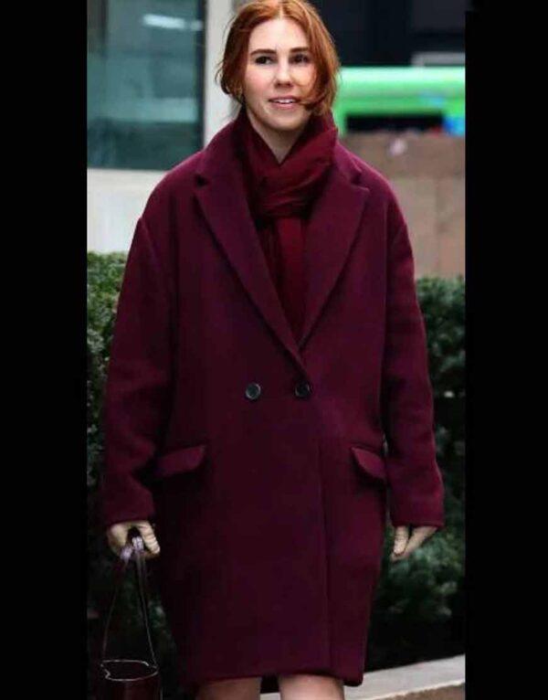The Flight Attendant Annie Maroon Coat