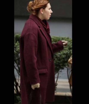 Annie Maroon Trench Coat