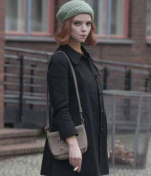 Anya Taylor-Joy Black Coat