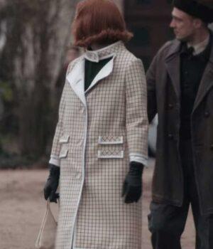 The Queens Gambit Anya Taylor-Joy Checkered Coat