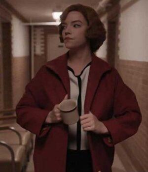The Queens Gambit Anya Taylor-Joy Red Coat
