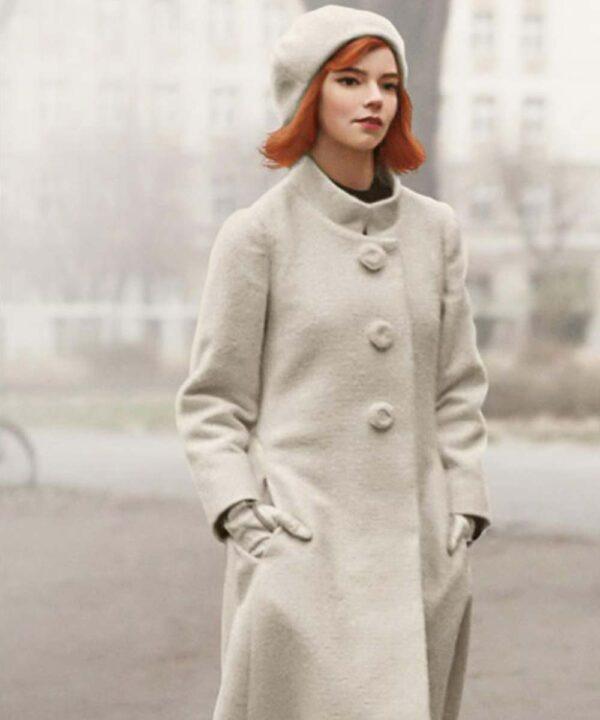 Anya Taylor-Joy White Coat