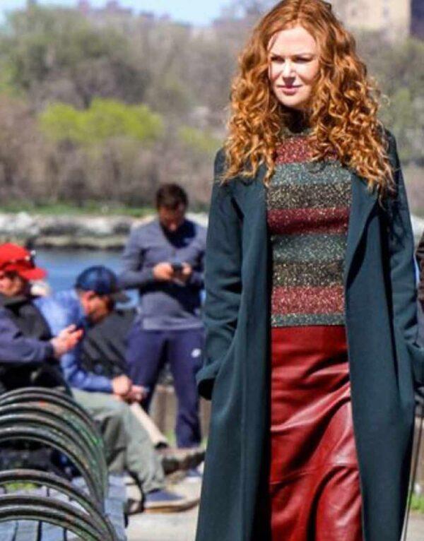 Nicole Kidman Teal Trench Coat