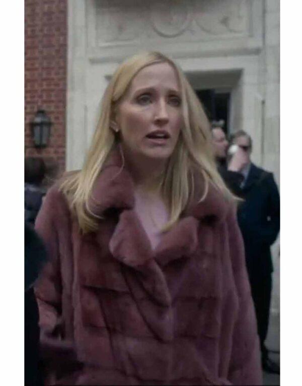 Sally Morrison The Undoing Pink Fur Coat