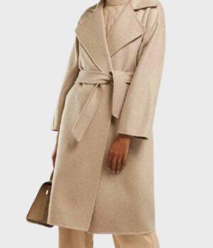 The Undoing Sylvia Steineitz Wrap Beige Coat