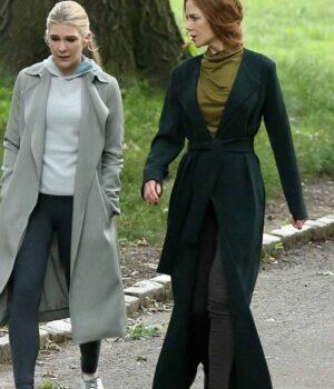 The Undoing Grace Fraser Green Trench Coat