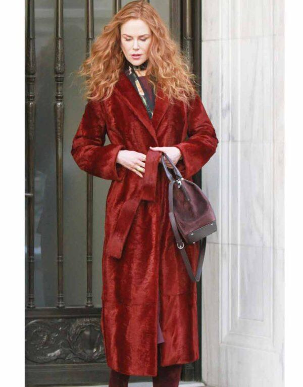 The Undoing Grace Fraser Maroon Coat