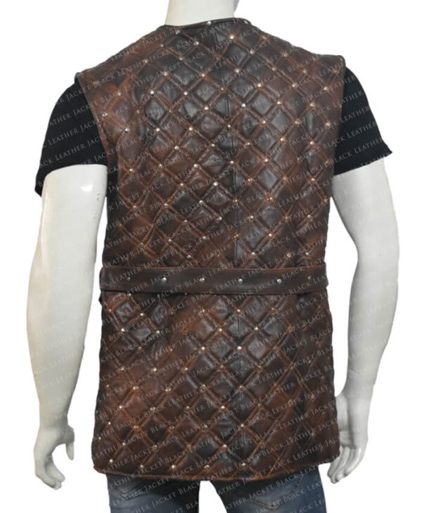 Vikings S03 Bjorn Lothbrok Brown Vest Back