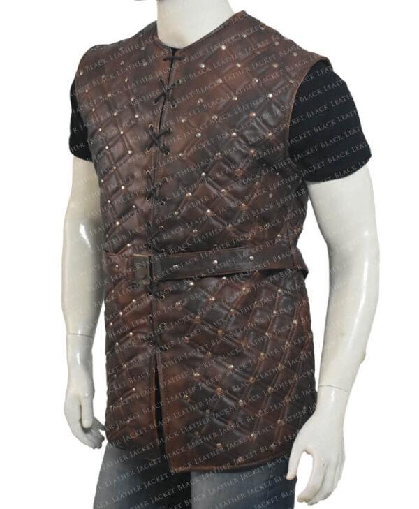 Vikings S03 Bjorn Lothbrok Brown Vest Right Side
