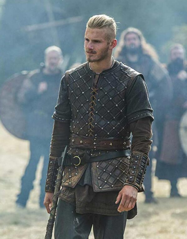 Vikings S03 Bjorn Lothbrok Brown Vest