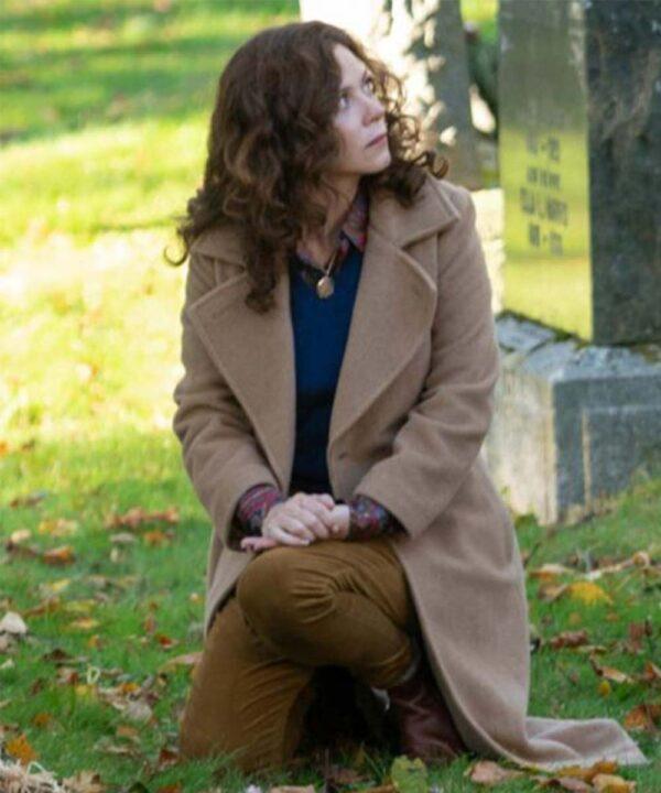 Anna Friel Brown Coat