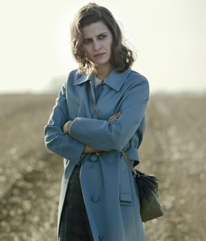 Emma Paetz Blue Trench Coat