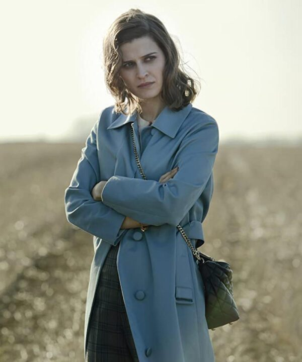 Emma Paetz Blue Trench Coat