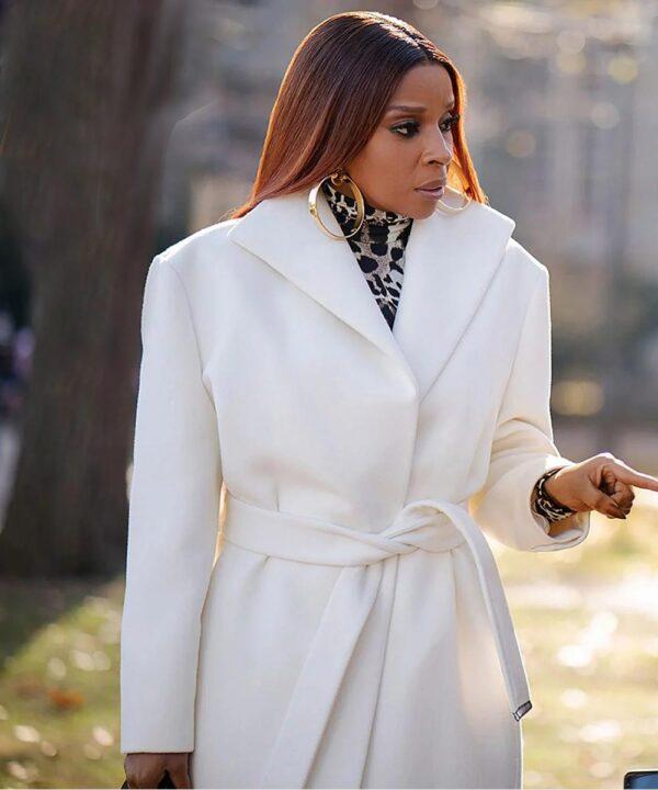 Mary J. Blige White Coat