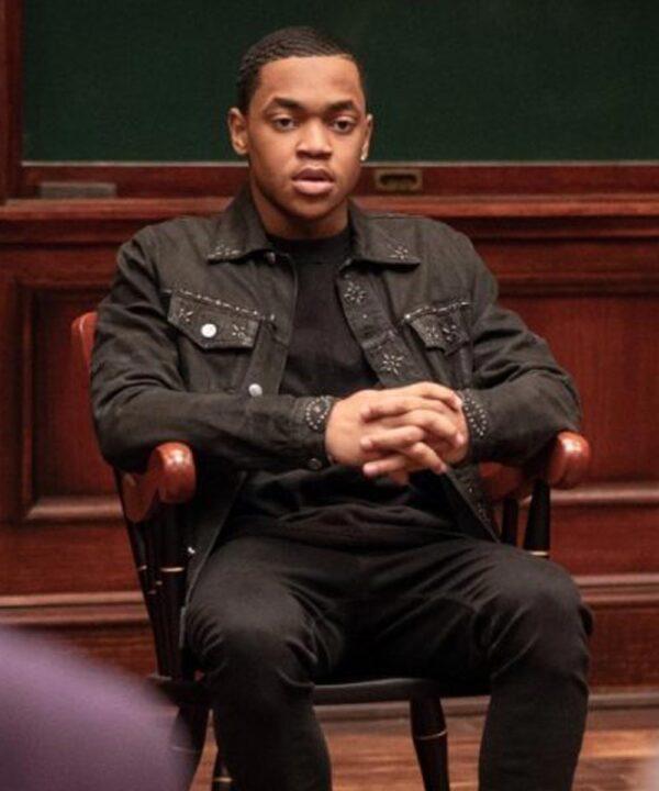 Michael Rainey Jr. Black Cotton Jacket
