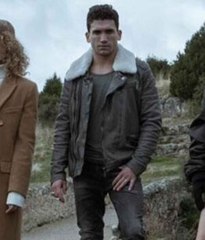 Jaime Lorente Brown Jacket