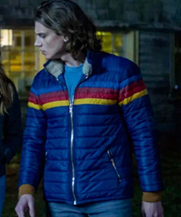 Nancy Drew Alex Saxon Blue Puffer Jacket